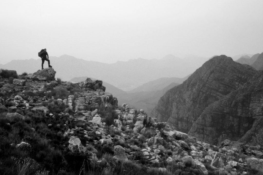 hiker sihouette