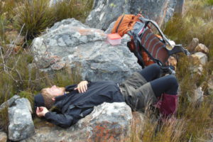 hiker sleeping
