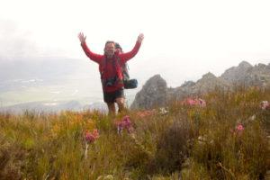 hiker waving-bob